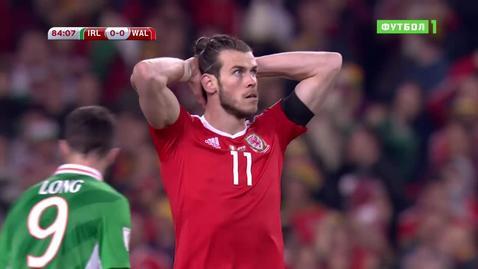 Ирландия - Уэльс - 0:0. Лучшие моменты