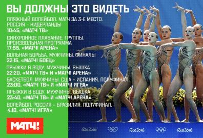 Россия – Бразилия в волейболе и золото синхронисток. Ваш гид по Олимпийским играм на 19 августа