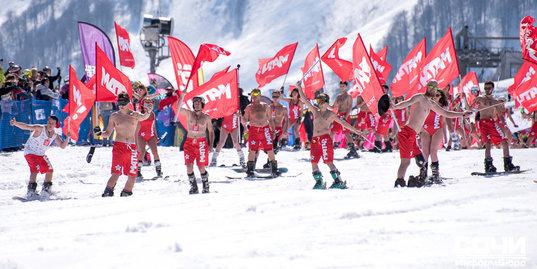 В Сочи прошел спуск на лыжах и сноубордах «Матч без границ»
