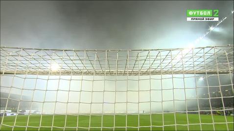 Италия - Албания. Матч остановлен из-за сильного задымления