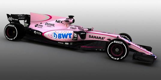 Розовый болид в «Формуле-1» – это нормально?
