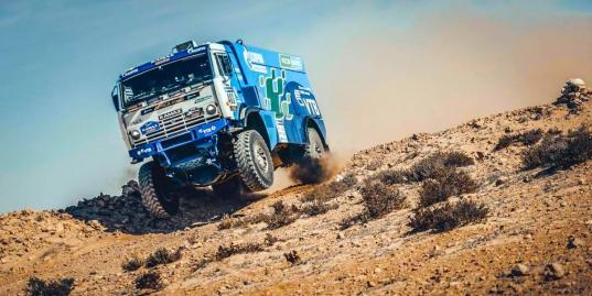 Единственный экологически чистый грузовик на дистанции Africa Eco Race