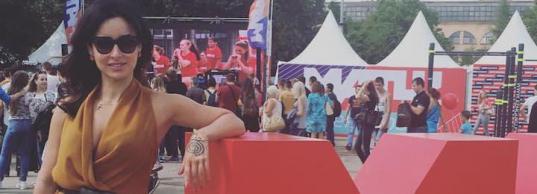 Тина Канделаки открыла большую #МатчТренировку в Лужниках