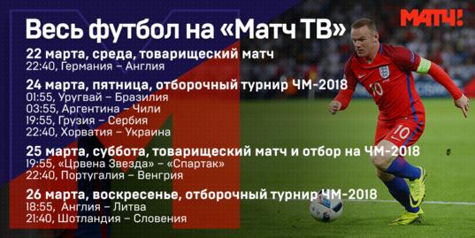 Как «Матч ТВ» покажет футбол на этой неделе