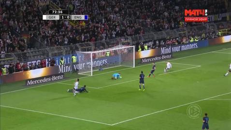 Германия – Англия. Джо Харт спасает англичан от второго гола