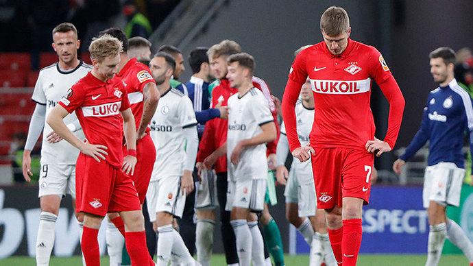 Спартак проиграл Легии в домашнем матче Лиги Европы