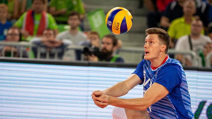 Российские волейболисты обыграли австралийцев в матче Лиги наций