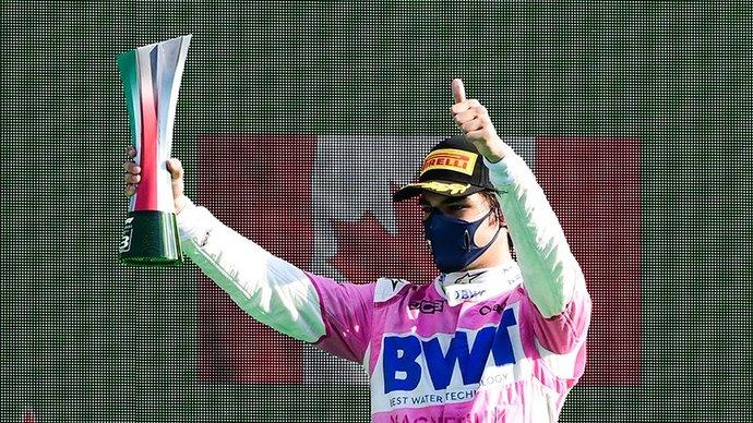 Стролл показал средний палец Мазепину во время гонки в Испании