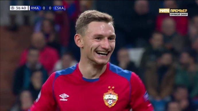 Реал - ЦСКА. 0:1. Федор Чалов (видео)
