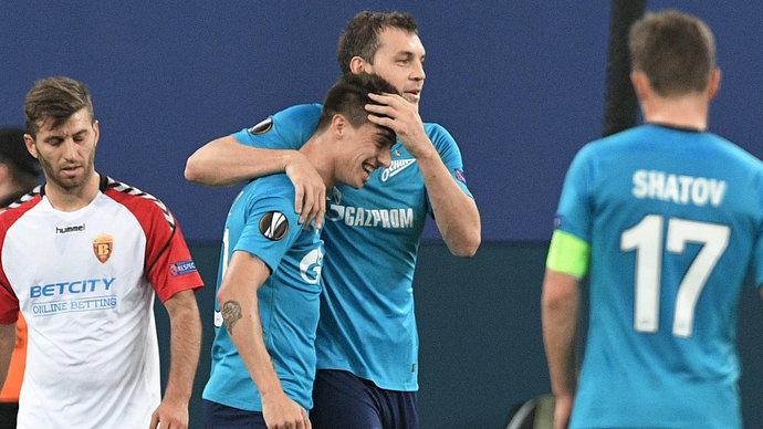 «Зенит» переиграл «Вардар», Дзюба не забил пенальти