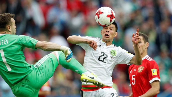 Россия завершила выступления на Кубке конфедераций, уступив Мексике