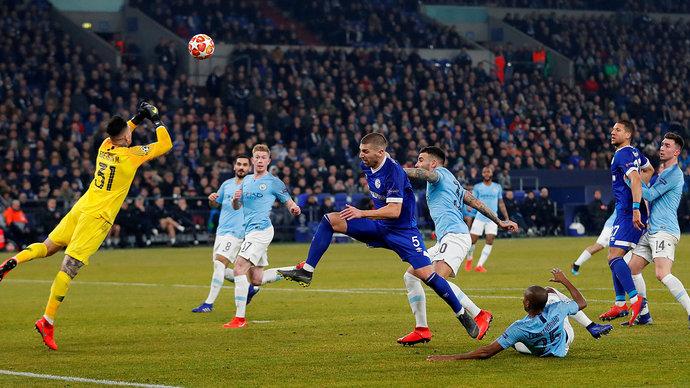 «Манчестер Сити» на последних минутах вырвал победу в матче Лиги чемпионов, играя в меньшинстве