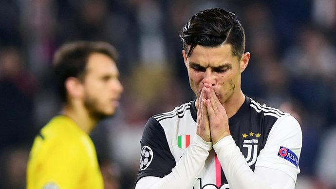 Ronaldo left Juventus Stadium before the final whistle
