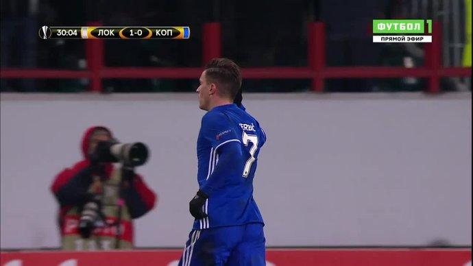 Локомотив - Копенгаген. 1:1. Беньямин Вербич (видео)