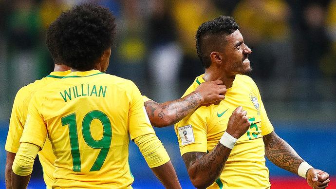 Сборная Бразилии провела в «Лужниках» тренировку в полном составе