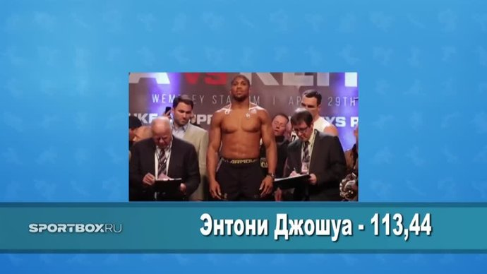 Дуэль взглядов: Перед тем, как стрельнуть в Кличко глазами, Джошуа натянул штаны (видео)
