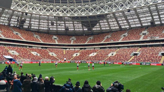 Сборная России тренируется в полном составе в преддверии встречи с Бразилией