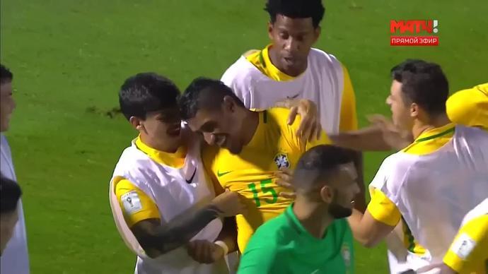 Уругвай - Бразилия - 1:4. Голы (видео)
