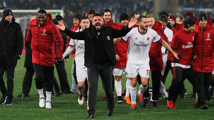 «Милан» одолел «Кьево», «Рома» разобралась с «Кротоне»