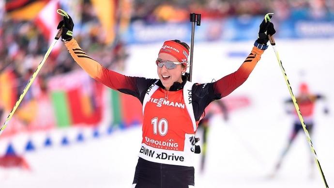 Германия выиграла женскую эстафету в Оберхофе, россиянки стали четвертыми