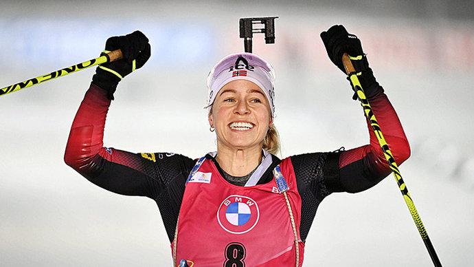Экхофф победила в гонке преследования в Оберхофе, Миронова  в шаге от пьедестала