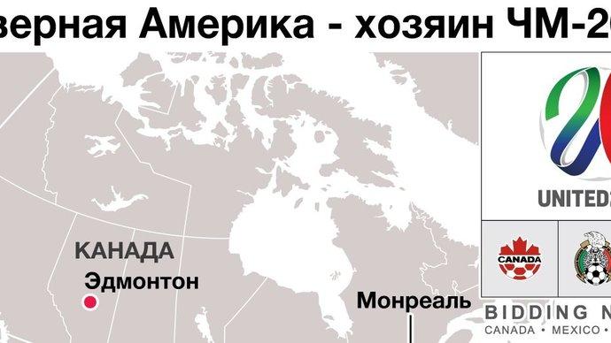 ЧМ-2026. Три хозяйки, 16 городов, 48 участников