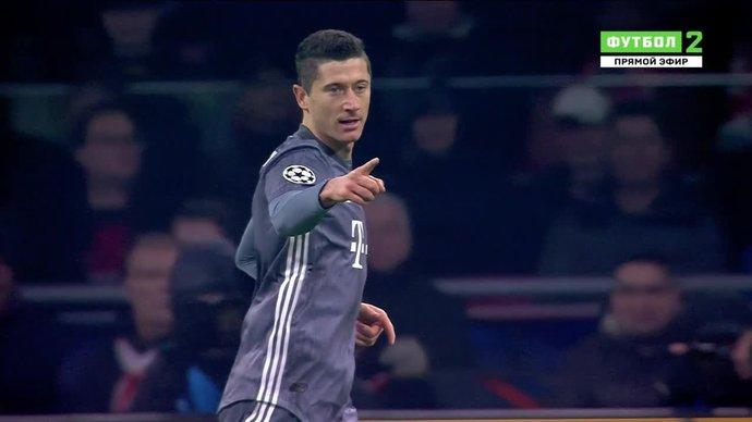 Аякс - Бавария. 0:1. Роберт Левандовский (видео)