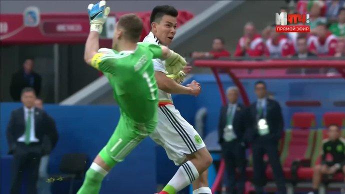Россия — Мексика - 1:2. Голы и лучшие моменты (видео)