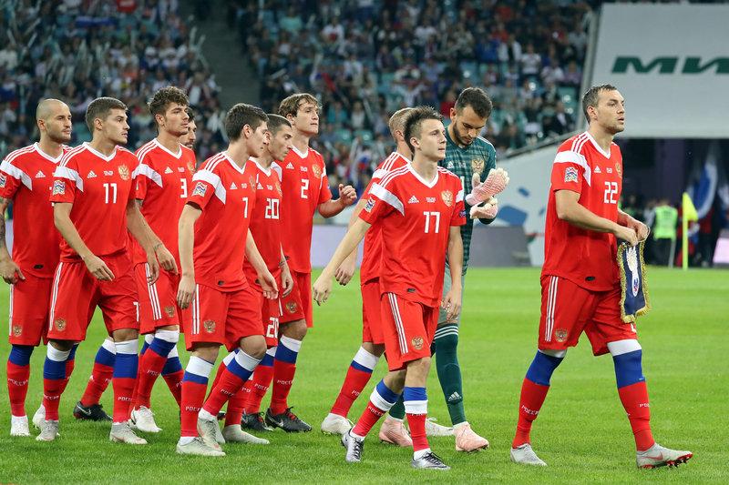 Матч между командами России и Турции