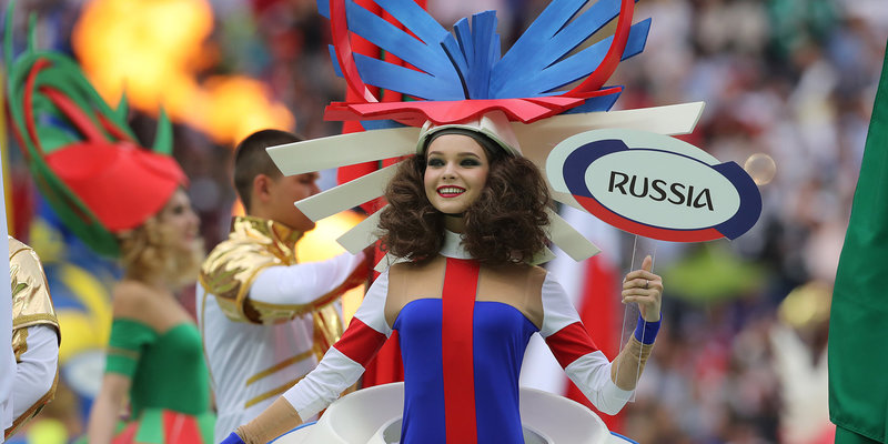 FIFA World Cup 2018. Opening ceremony of the 2018 FIFA World Cup at Luzhniki Stadium.