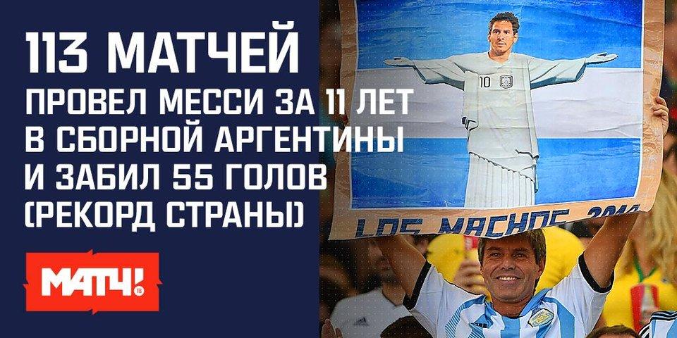10 главных цифр о карьере Месси в сборной Аргентины