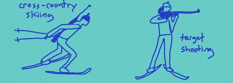 Рисунки, которые разъясняют американцам, что такое биатлон