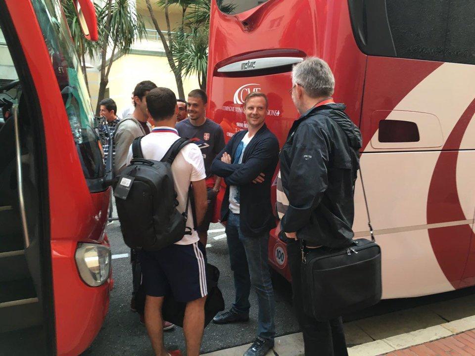 Вячеслав Малафеев посетил матч Россия – Сербия