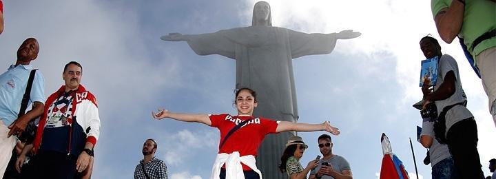Российские спортсмены возле главной достопримечательности Рио. 12 божественных фото
