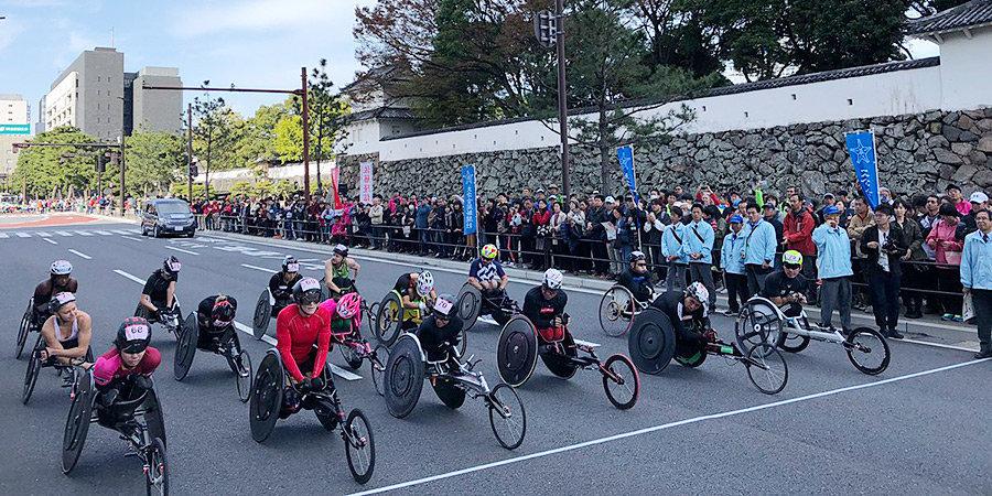 Россиянин впервые принял участие в марафоне для колясочников в Японии