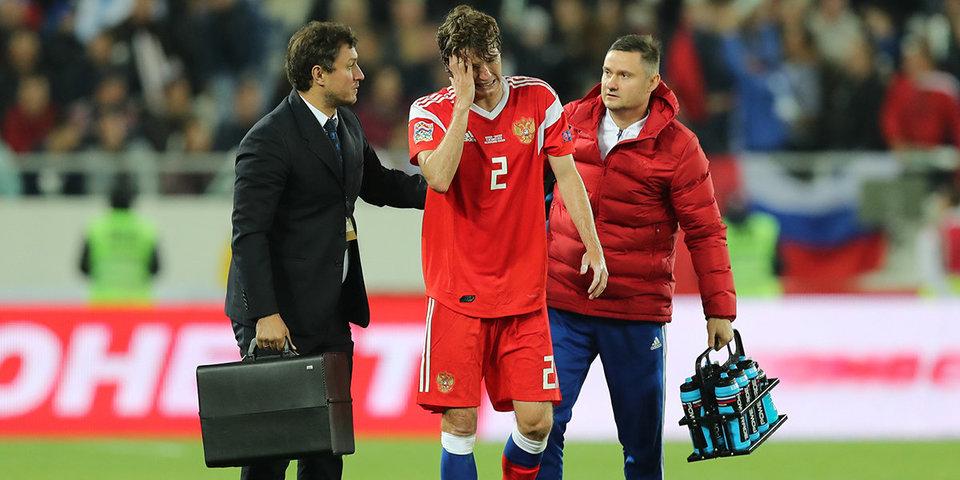 Защитник сборной России Марио Фернандес показал «боевую рану» после матча со Швецией