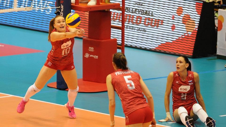 Российские волейболистки уступили бразильянкам на старте Всемирного кубка чемпионов
