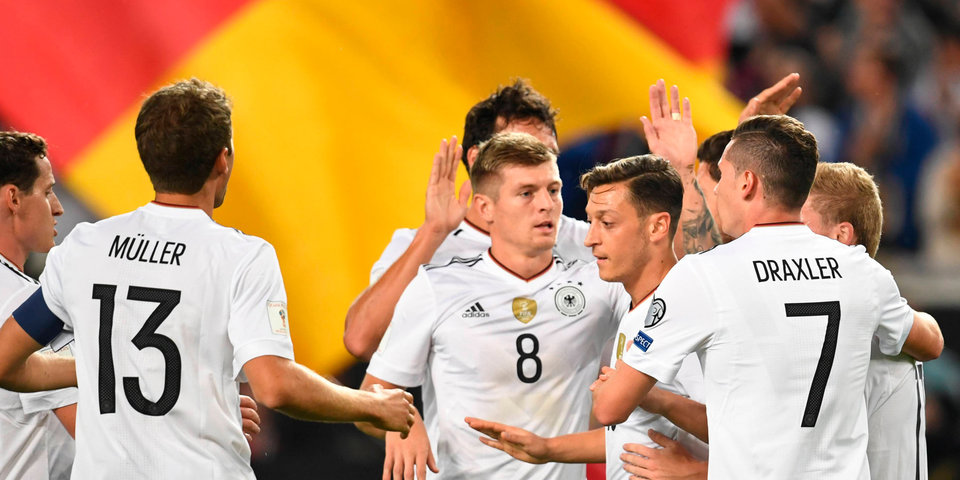 Сборная Германии одержала первую волевую победу на ЧМ за 20 лет