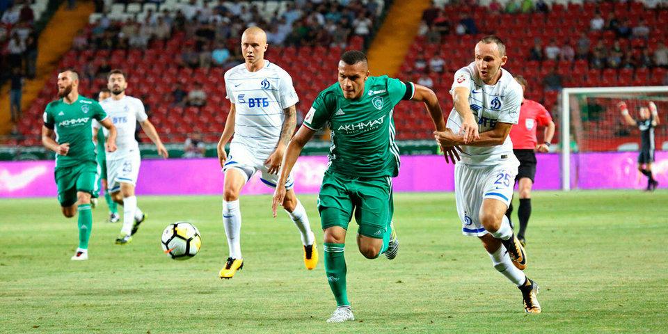 «Ахмат» одержал третью победу подряд, обыграв «Динамо»