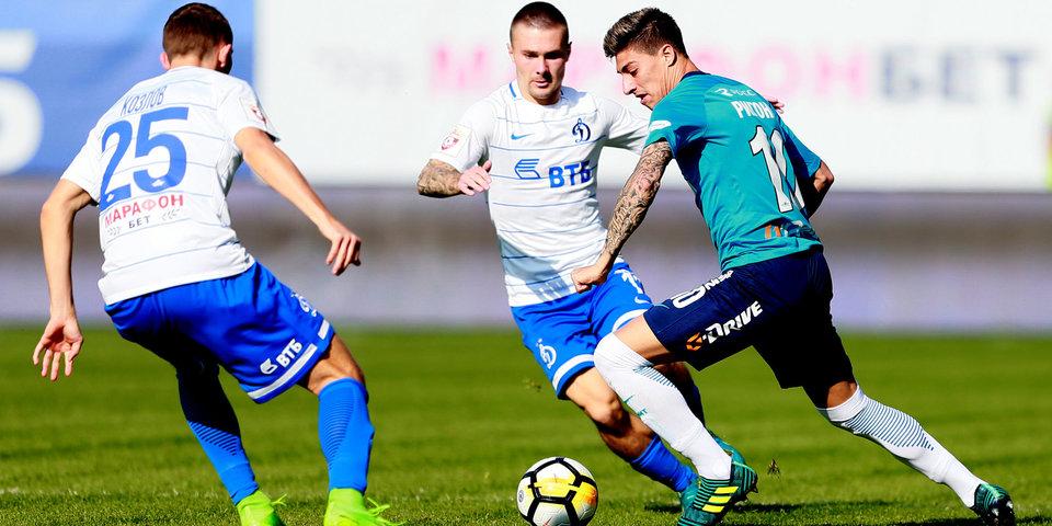 «Динамо» и «Зенит» играют вничью: лучшие моменты