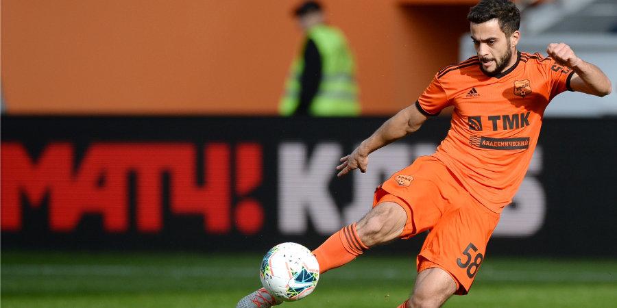 Лучший ассистент «Урала» вернулся в общую группу перед матчем со «Спартаком»
