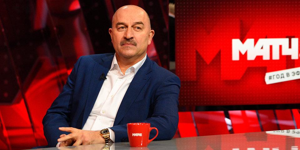 Березуцкие, Денисов, Дзюба, усы. Черчесов отвечает и задает вопросы в эфире «Матч ТВ»