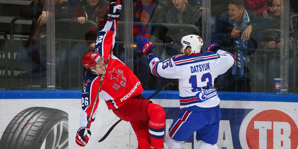 ЦСКА победил СКА и вышел в лидеры лиги. Фото и видео