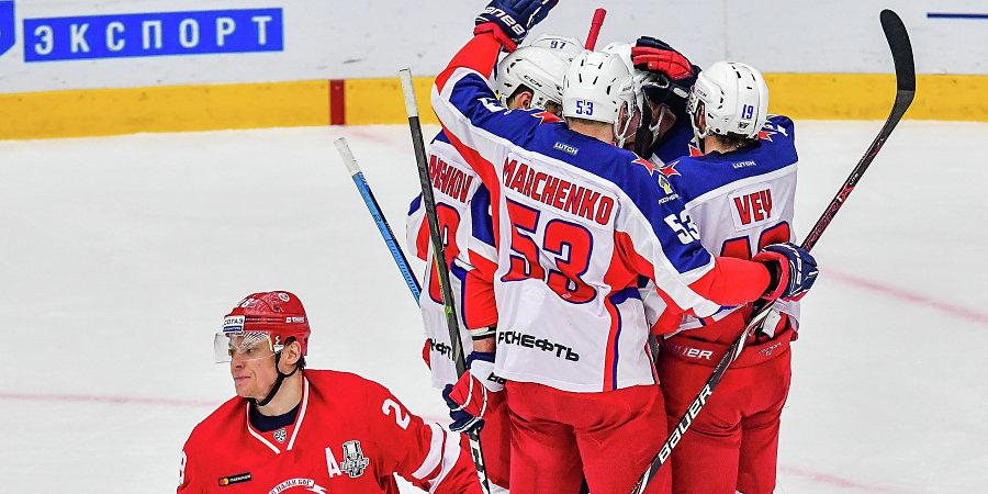 ЦСКА и «Автомобилист» — в четвертьфинале Кубка Гагарина, СКА сравнял счет в серии со «Спартаком»