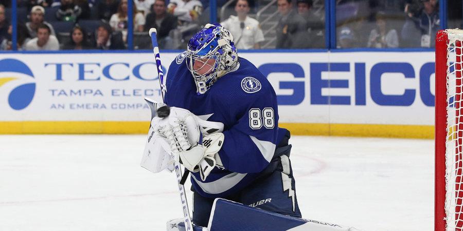Василевский сделал шикарный сэйв, Свечников оформил дубль, Бобровский пропустил шесть шайб. Обзор дня НХЛ