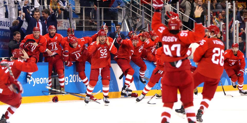 МОК с пониманием относится к исполнению хоккеистами гимна России на вручении медалей ОИ-2018