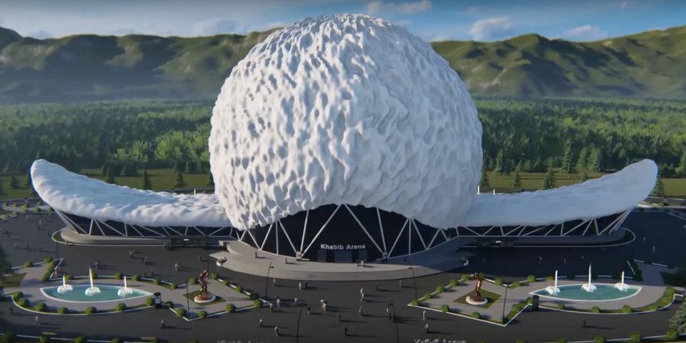 В Дагестане предложили построить 7-тысячную «Хабиб Арену» в форме папахи