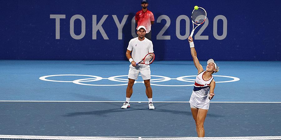 Веснина и Карацев обеспечили российский финал в миксте на Олимпиаде. Сборной гарантировано золото и серебро