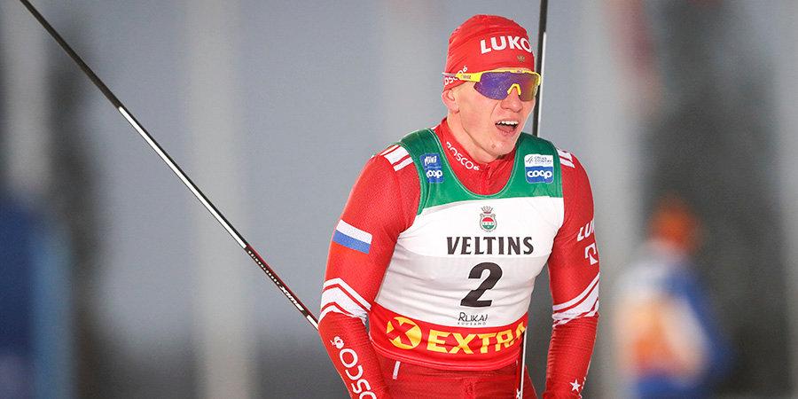 Пеллегрино выиграл спринт на первом этапе «Тур де Ски», Большунов — второй