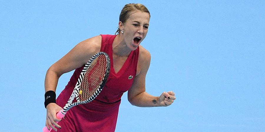 Павлюченкова стала первой ракеткой России, Касаткина опустилась на 70-е место рейтинга WTA